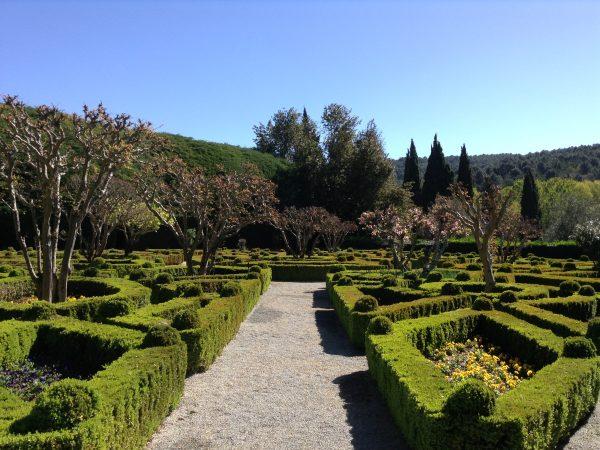 Viaja a Portugal, Casa Mateus Jardines con diseños geométricos