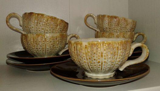 tazas inspiradas en erizos de mar bordallo pinheiro caldas da rainha de la tienda maria atarefada en campo de ourique