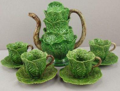 Espectacular servicio de té de José A. Cunha. Detalle de la boquilla y asas con forma de serpiente