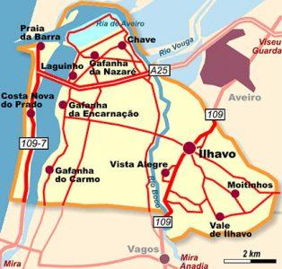 mapa Ilhavo