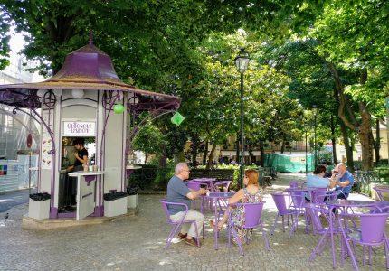 Kiosco en la Plaza de las Flores
