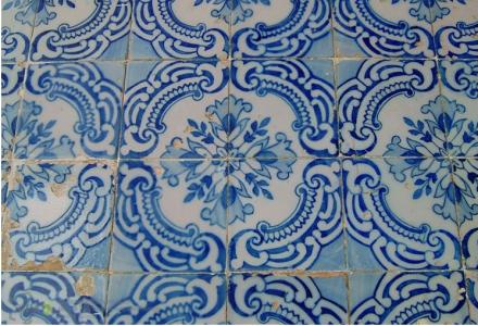 Azulejo fachada principal de la Quinta dos Azulejos, Lumiar