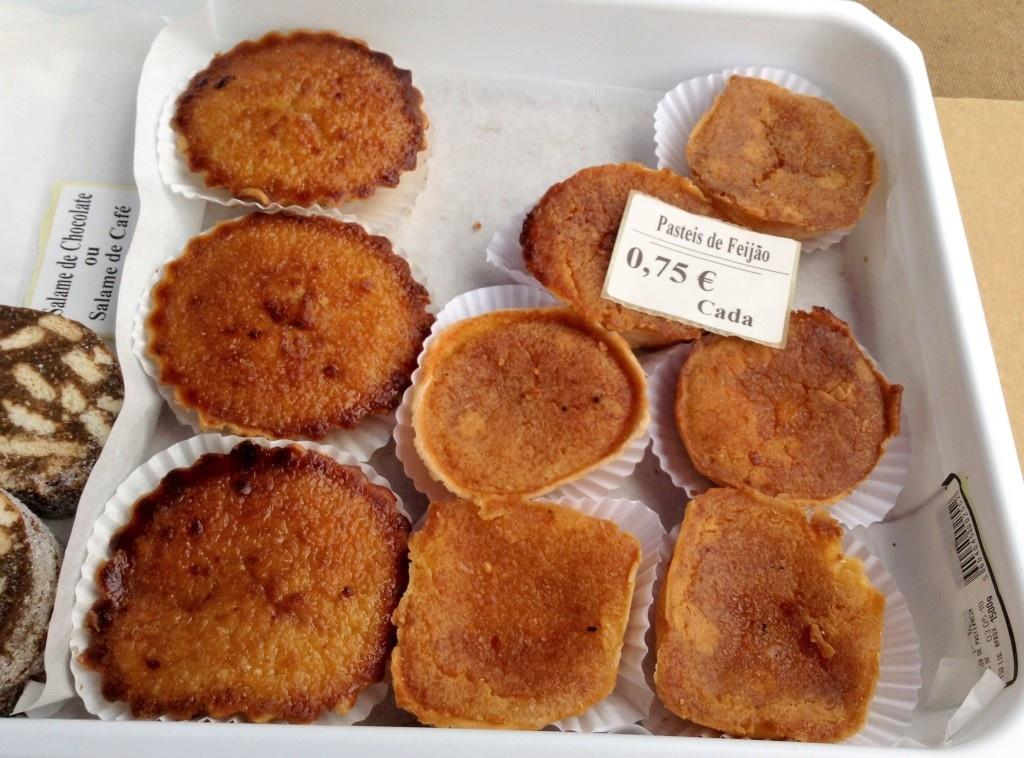 Pasteis de Feijão del mercado de Caldas da Rainha
